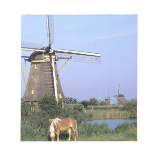 Europe, Netherlands, Zuid Holland, Kinderdijk. 2 Note Pad