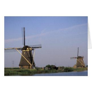 Europe, Netherlands, Zuid Holland, Kinderdijk. Card
