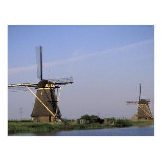 Europe, Netherlands, Zuid Holland, Kinderdijk. Postcard