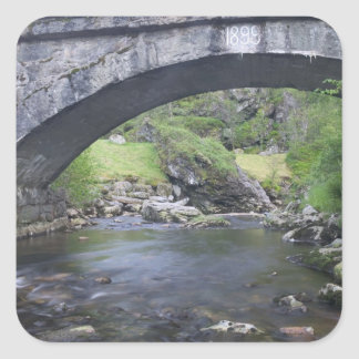 Europe, Norway. Stone Bridge enroute to Bergen Square Stickers