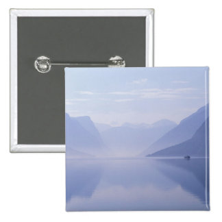 Europe, Norway. Vertical walls reflected in Pinback Button