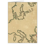 Europe Outline 2 Greeting Cards