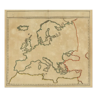 Europe Outline 2 Print