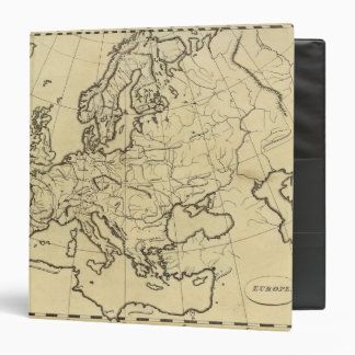 Europe outline map 3 ring binder