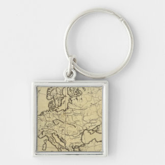 Europe outline map keychain