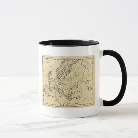 Europe outline map mug