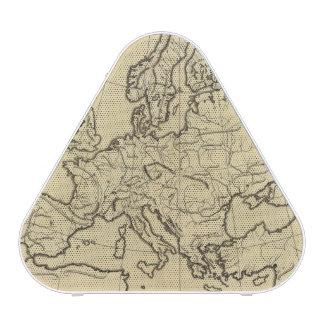 Europe outline map speaker