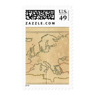 Europe Outline Stamps