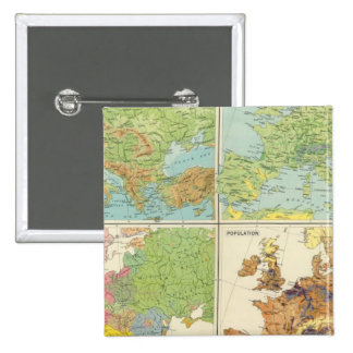 Europe physical features & population Map Button