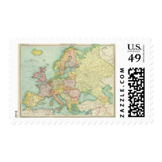 Europe political Map Postage