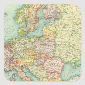 Europe political Map Square Sticker