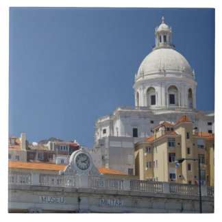 Europe, Portugal, Lisbon (aka Lisboa). Military Large Square Tile