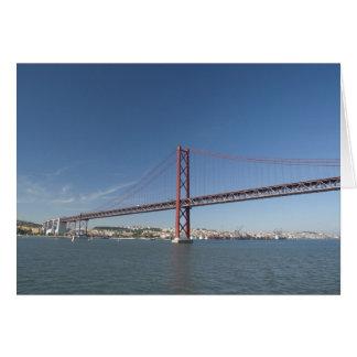 Europe, Portugal, Lisbon aka Lisboa). Ponte Card