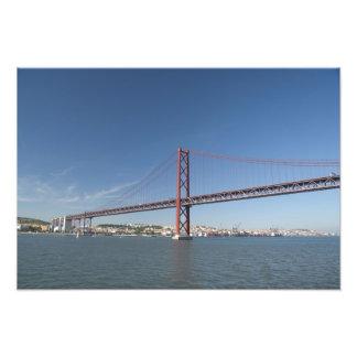 Europe, Portugal, Lisbon aka Lisboa). Ponte Photo Print