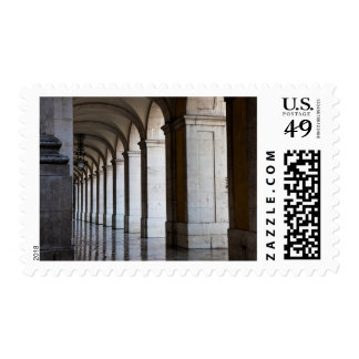 Europe, Portugal, Lisbon. Columns Of The Arcade Postage Stamp
