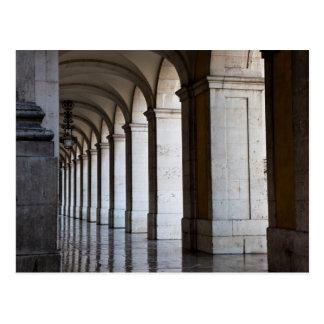 Europe, Portugal, Lisbon. Columns Of The Arcade Postcard