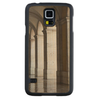 Europe, Portugal, Lisbon. Columns Of The Arcade Carved® Maple Galaxy S5 Slim Case