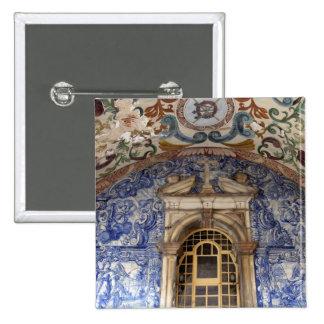 Europe, Portugal, Obidos. Colorful architectural 2 Inch Square Button