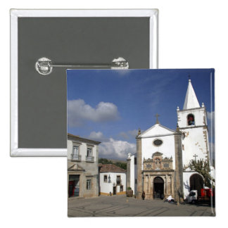 Europe, Portugal, Obidos. Santa Maria Church in 2 Inch Square Button