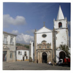 Europe, Portugal, Obidos. Santa Maria Church in Ceramic Tile