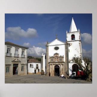 Europe, Portugal, Obidos. Santa Maria Church in Poster