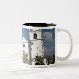 Europe, Portugal, Obidos. Santa Maria Church in Two-Tone Coffee Mug