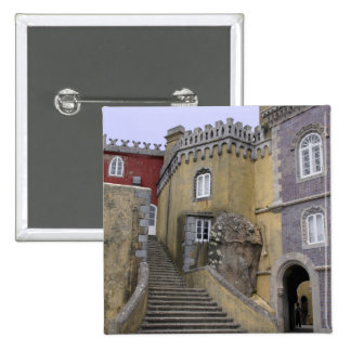 Europe, Portugal, Sintra. The Pena National 2 2 Inch Square Button