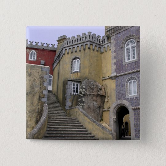 Europe, Portugal, Sintra. The Pena National 2 Pinback Button