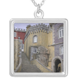 Europe, Portugal, Sintra. The Pena National 2 Silver Plated Necklace