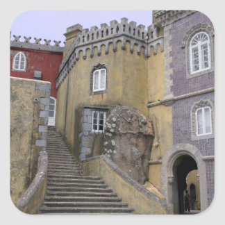 Europe, Portugal, Sintra. The Pena National 2 Square Sticker