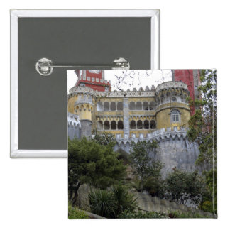 Europe, Portugal, Sintra. The Pena National 3 2 Inch Square Button
