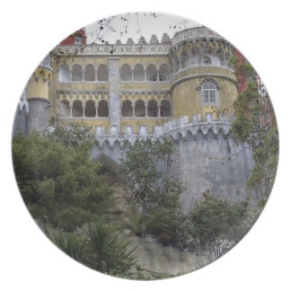 Europe, Portugal, Sintra. The Pena National 3 Party Plate
