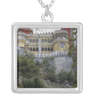Europe, Portugal, Sintra. The Pena National 3 Silver Plated Necklace