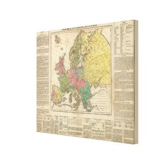 Europe Religion Atlas Map Canvas Print