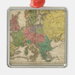 Europe Religion Atlas Map Metal Ornament