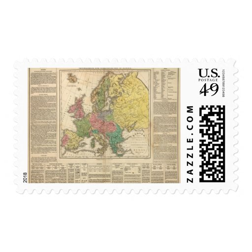 Europe Religion Atlas Map Postage Stamp