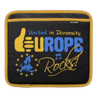 EUROPE ROCKS custom iPad / laptop sleeve