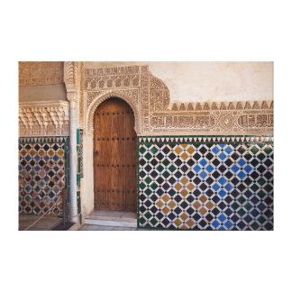 Europe, Spain, Andalusia, Granada, Alhambra Canvas Print