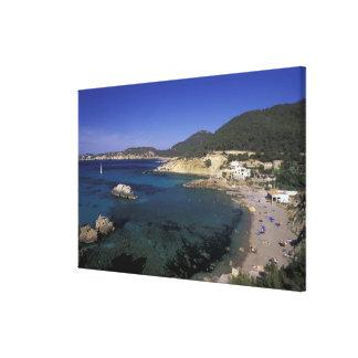 Europe, Spain, Balearics, Ibiza, Cala de Gallery Wrap Canvas