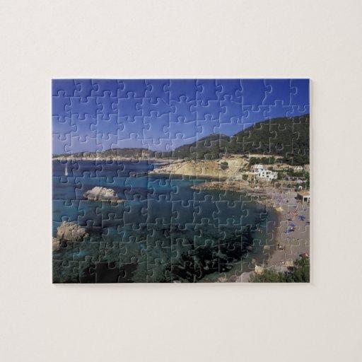 Europe, Spain, Balearics, Ibiza, Cala de Jigsaw Puzzle