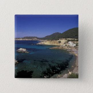 Europe, Spain, Balearics, Ibiza, Cala de Pinback Button