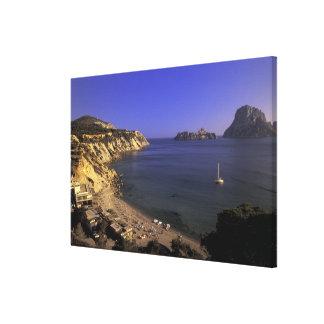 Europe, Spain, Balearics, Ibiza, Cala d'Hort Stretched Canvas Prints