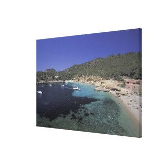 Europe, Spain, Balearics, Ibiza, Cala Salada. Canvas Prints
