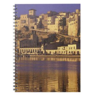 Europe, Spain, Balearics, Menorca, Mao. Dawn Notebook