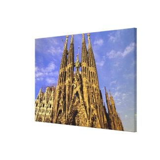 Europe, Spain, Barcelona, Sagrada Familia Canvas Print