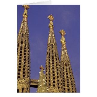 Europe, Spain, Barcelona Sagrada Familia Card