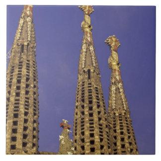Europe, Spain, Barcelona Sagrada Familia Ceramic Tile