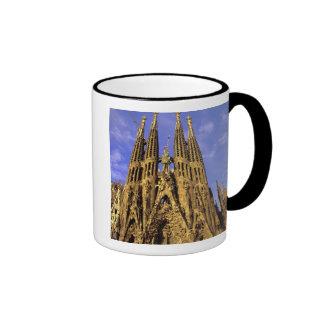 Europe, Spain, Barcelona, Sagrada Familia Ringer Coffee Mug