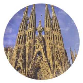 Europe, Spain, Barcelona, Sagrada Familia Party Plates