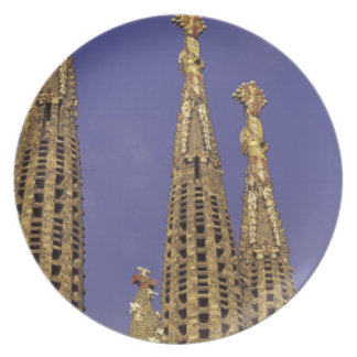 Europe, Spain, Barcelona Sagrada Familia Dinner Plates